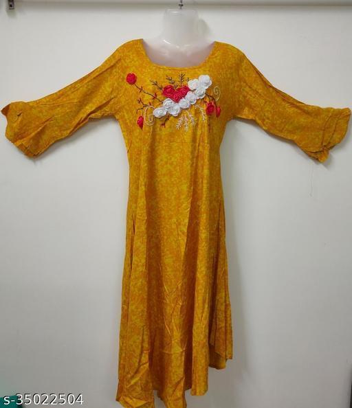Rayon Anarkali long Gown
