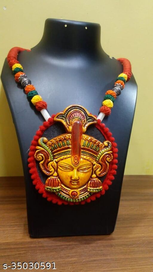 Chanda Handmade Necklace With Teracotta Pendent