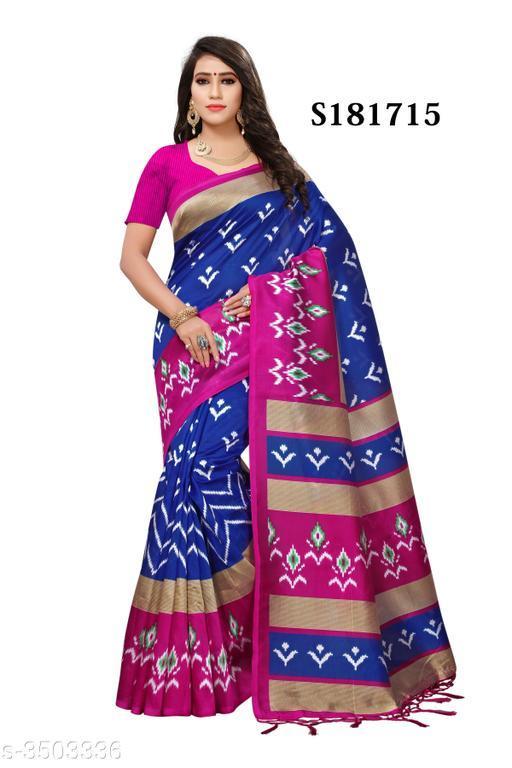 New Art Silk Printed Saree