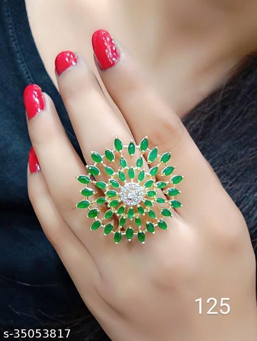 American Diamond Adjustable Rings