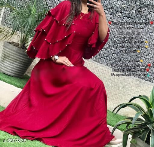 Stylish Pure Rayon 14 Kg Women's Gown