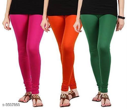 Gorgeous Cotton Blend Women's Leggings ( Pack Of 3 )
