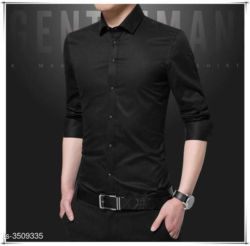 Elegant Cotton Solid Shirt