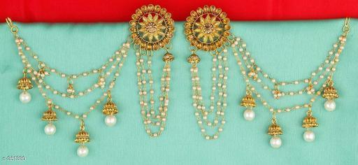 Trendy Pearl & Stone Earring