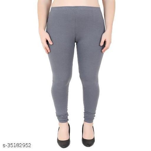 Grey Color Cotton Legging