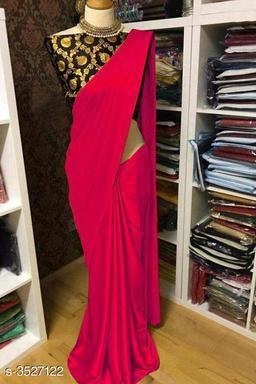 Trendy Satin  Women's Sarees
