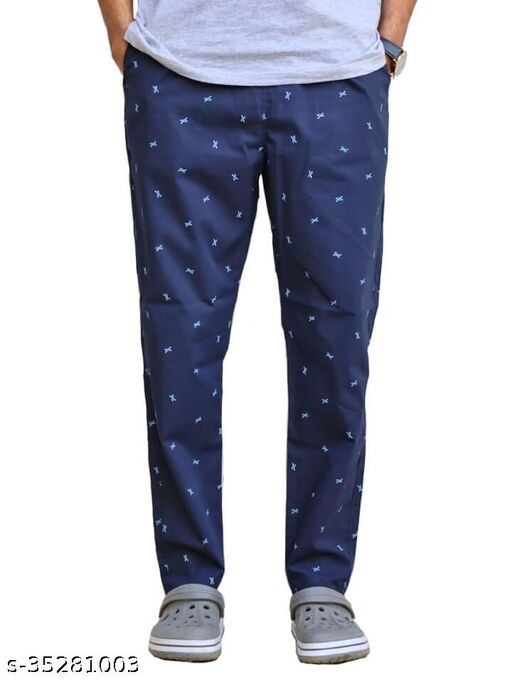 Trendy Printed Cotton Trackpants (Pack of 1)