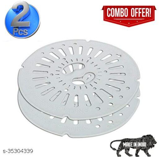 Plastic Washing Machine Accessories Spin Cover / Spinner / Dryer Safety Cap ( Size : 24.5 cm , Gray Colour , Pack Of 2 )