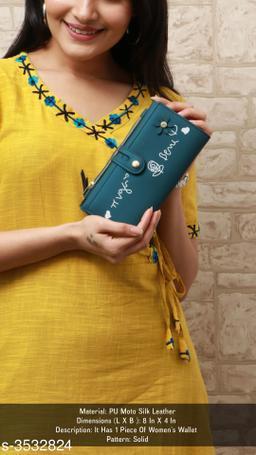 Beautiful Women's Blue Wallet