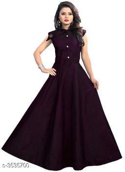 Solid Purple Maxi Satin Dress