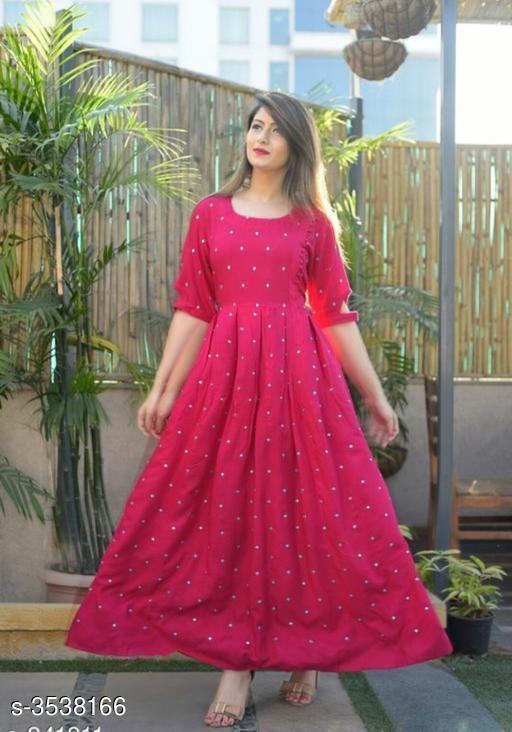 Women's Embellished Rayon Kurti