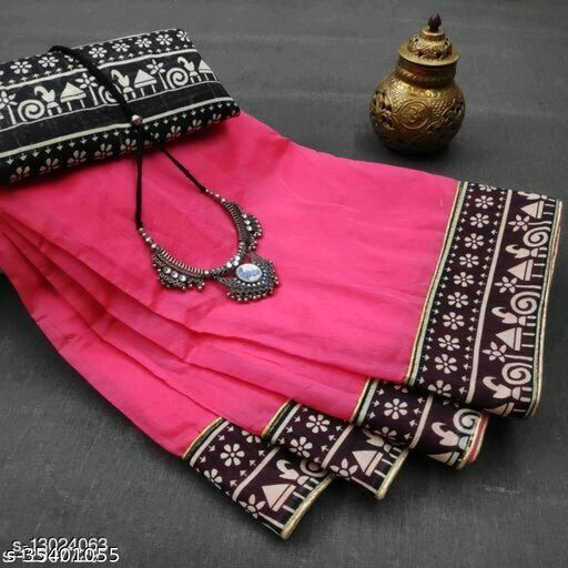 attractive chanderi saree with lace