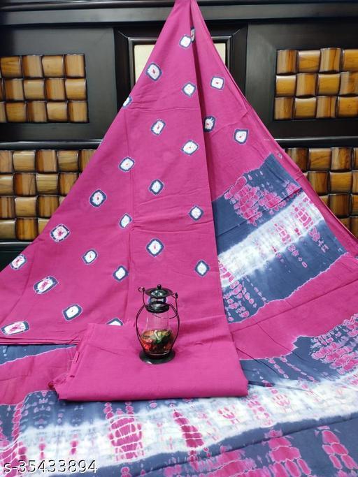 Trendy fancy pure cotton mulmul shibori saree