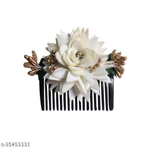 Flowers Gajra Comb Clip  Bun /Hair Gajra for Hair Bun Gajra  For Women