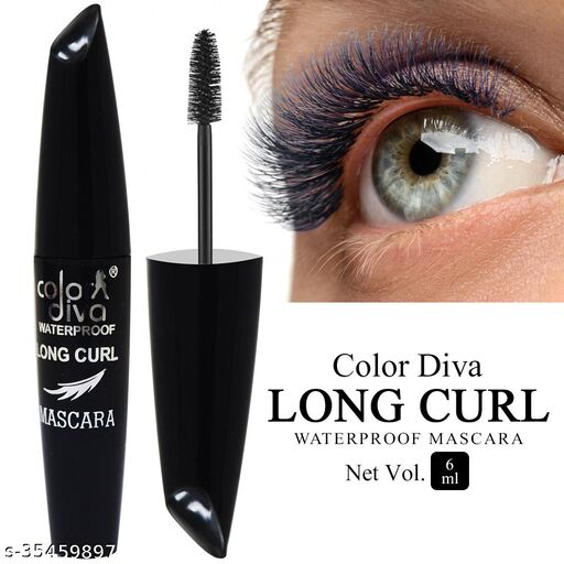 Color Diva Eye Mascara, Water Resistant, Long-Lasting, Black, Shade-104, 6ml