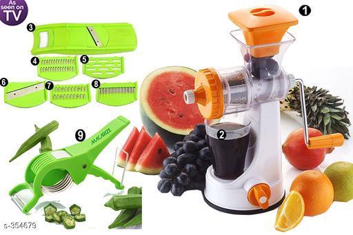 Fruit and vegetable juicer 9 in 1 Juicer Combo Orange