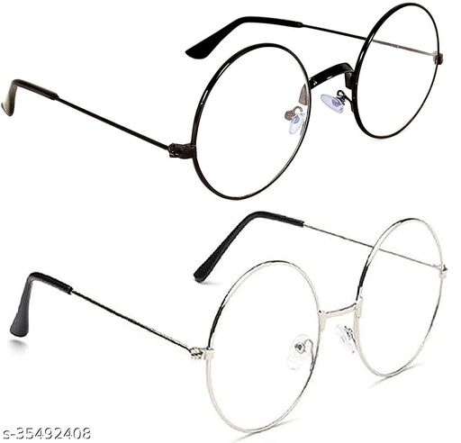 Men's Aviator Sunglasses (Clear Lens) (Free Size)