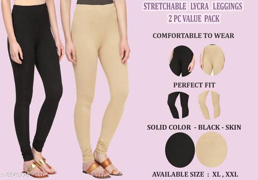 Jiya Stylish Women's Solid Leggings Combo
