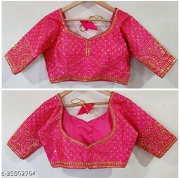 Excellent MAGGAM Work Ready Made Blouse RF-40