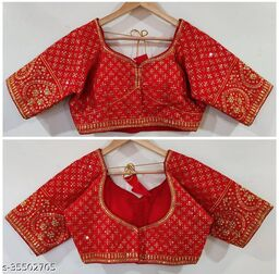 Excellent MAGGAM Work Ready Made Blouse RF-43