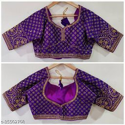 Excellent MAGGAM Work Ready Made Blouse RF-41