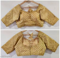 Excellent MAGGAM Work Ready Made Blouse RF-36