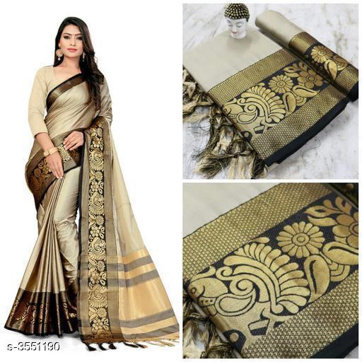 Trendy Cotton Silk Printed Sarees