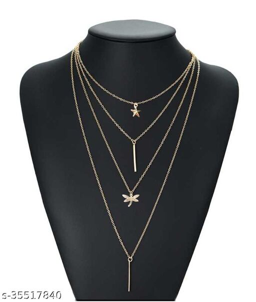 Trendy Layered Fashion Gold-plated Alloy Necklace