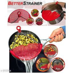 Amazing Better Strainer Foldable Snap Rubber for Draining Hot Pot Bowl Pan