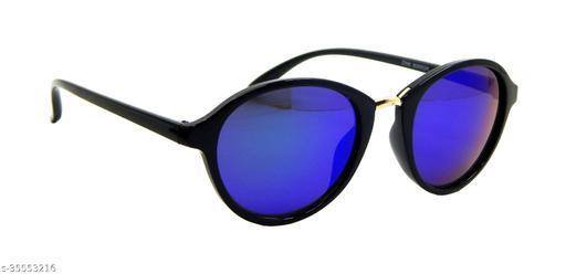 Els Men & Women, Unisex Sunglass, Oval, Black-Gold (664483-BLGLD-BUGR-MR-S)