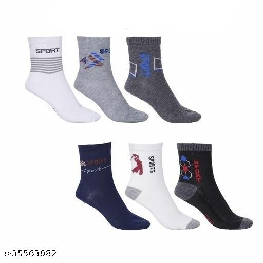 Premium Ankle Socks/Sports Socks (Pack Of 06 Pairs) for Mens and Womens, Free Size, Multicoloured