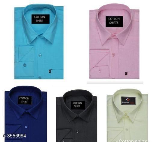 Trendy Designer Men's Shirts ( Pack Of 5)