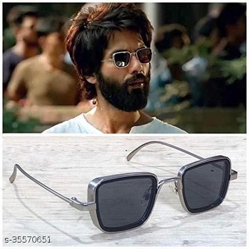 Stylish latest Kabir Singh Mens Sunglasses,Sliver Black-2
