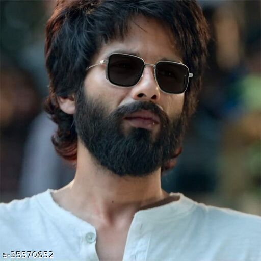 Stylish latest Kabir Singh Mens Sunglasses, Sliver Black