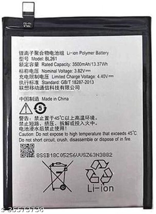 High Quality Mobile Battery For Lenovo Vibe K5 Note With 3500 MaH