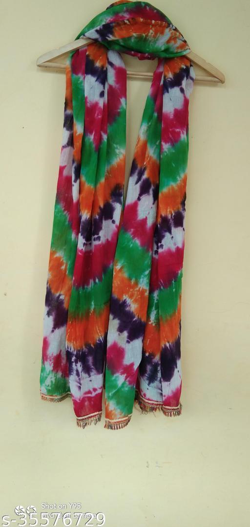 Rarigo Cotton Blend Tie Die Multi Color Women Dupatta