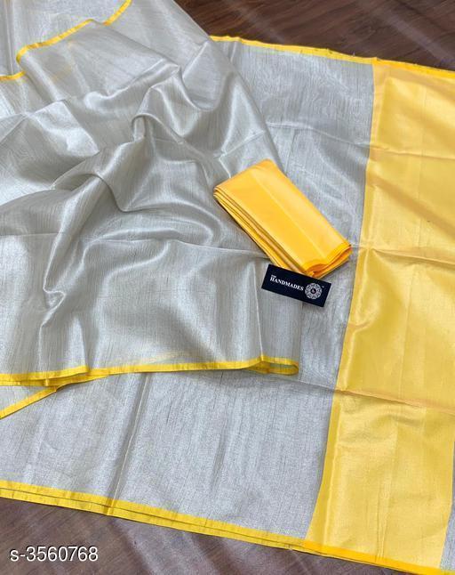 New Trendy Tissue Silk Sarees