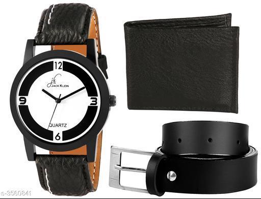 Trendy Men's Watches & Wallet & Belt Combo