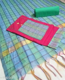 Stylish Slub Cotton Suits & Dress Materia
