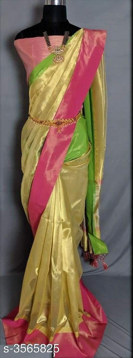 Trendy Tissue Silk Printed Sarees