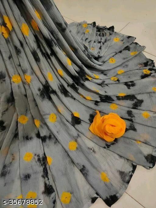 P Designer Trendy Chiffon Saree With Running Blouse Piece