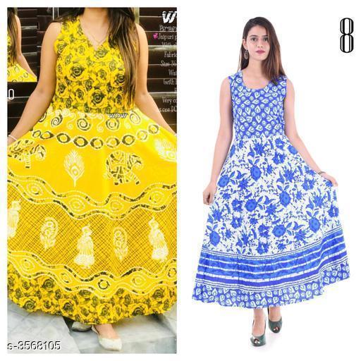 Stylish Rayon And Cotton Womens Dress