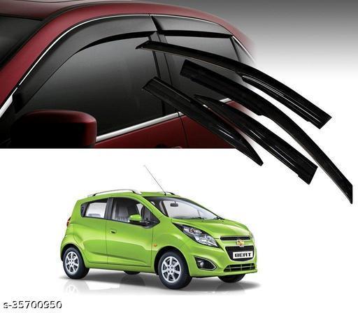 Car Rain Wind Door Visor Side Window Deflector for Beat Set of 4 PCS