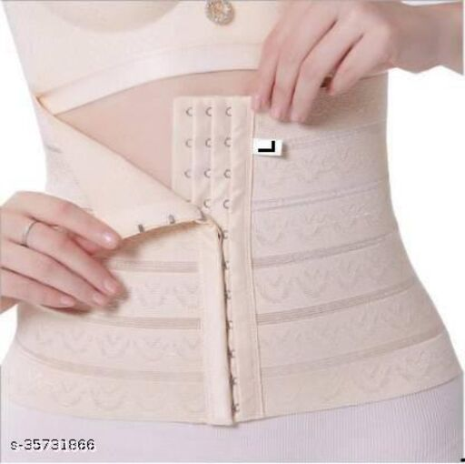 FASHION WILLA Women's Cotton Lycra & Spandex Solid Slim Belt with Adjustable Closure