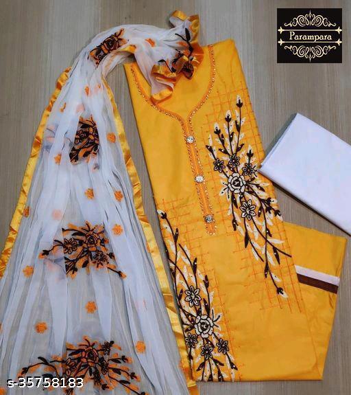 Parampara's Unstitched Suit With Dupatta