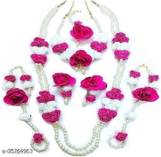 SaleBird Fancy Floral Jewellery Set For Women & Girls