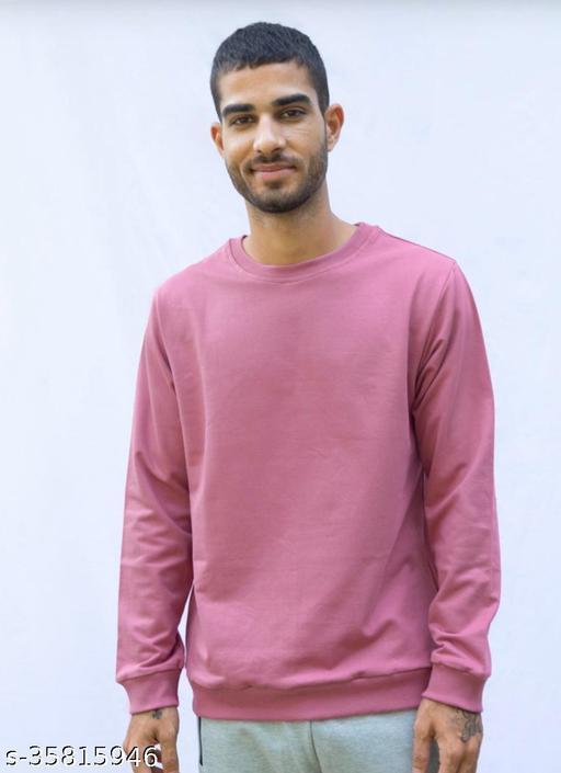 Full sleeves solid men and women sweatshirt