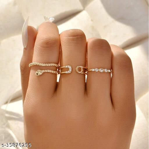 Arzoni European and American fashion simple snake-shaped 3-piece combination women's new jewelry D0818