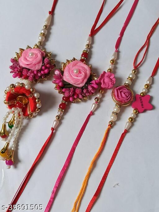 Radhe Krishna Creation Handmade Designer Rakhi (Pack of 05)