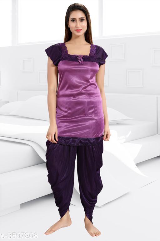 Women Satin Nightsuit